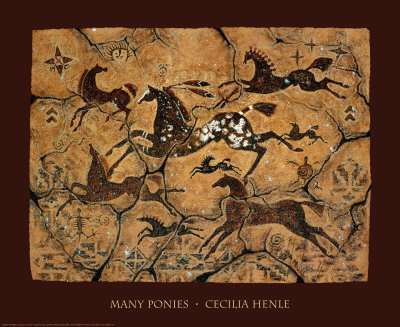 Poster for sale:  Cecilia Henle - Many Ponies